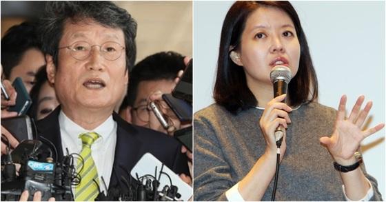 배우 문성근씨(左), 김여진씨(右). [연합뉴스, 중앙포토]