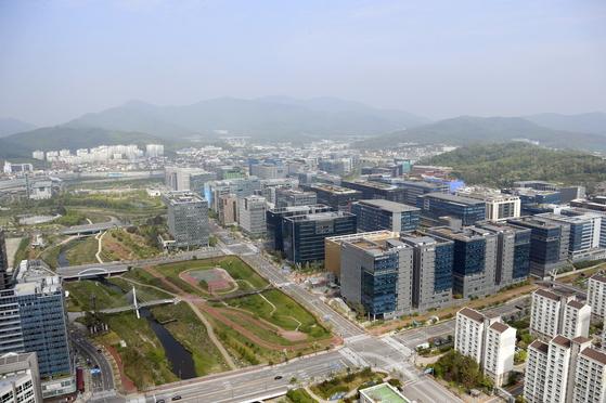 경기도 성남 판교신도시 전경. [중앙포토]