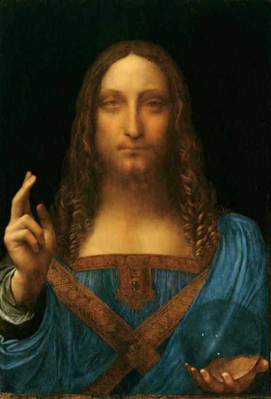 레오나르도 다빈치의 '살바토르 문디'. AS 모나코의 구단주인 러시아 재벌 드미트리 리볼로블레프가 2013년 1억2750만 달러(약 1520억원)에 사들여 제네바 에 보관하고 있다.