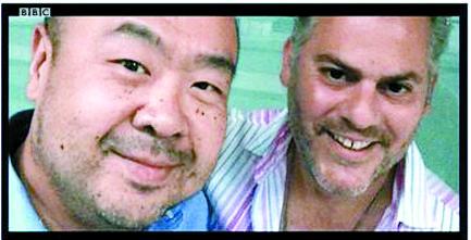 김정남과 스위스 국제학교 친구인 앤서니 사하키안. [BBC 캡쳐]