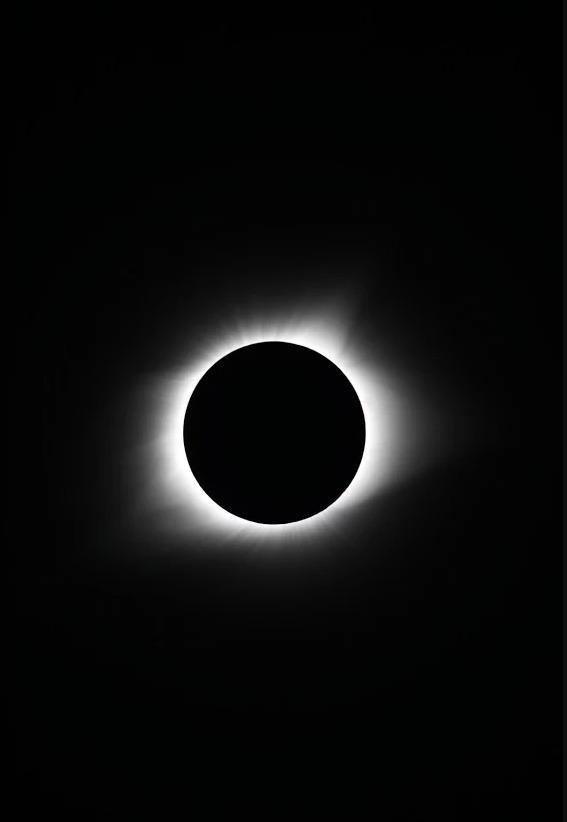 오준호 교수 팀이 미국 오레건주 마드라스에서 촬영한 개기 일식. 코로나가 확인된다. [사진=오준호 교수 제공]