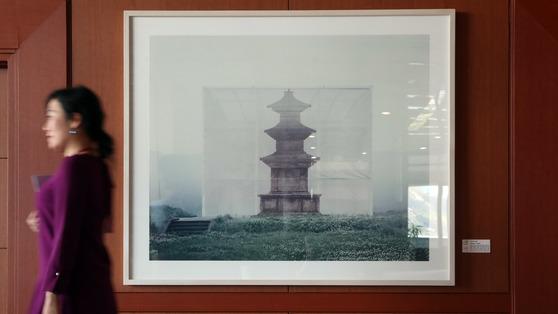 외교부 청사 18층 '감은사지석탑'.