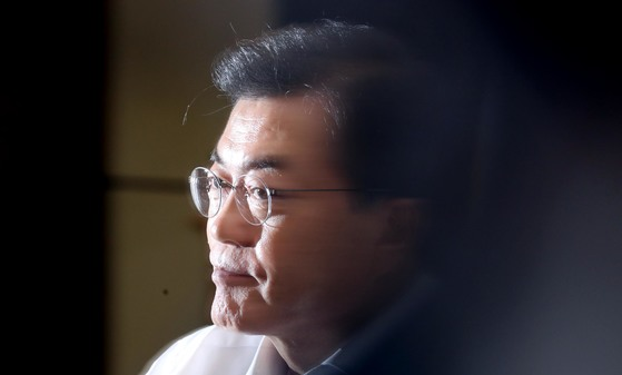 문재인 대통령. 청와대사진기자단