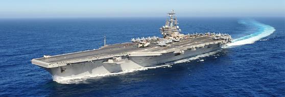미 해군의 핵추진 항공모함 로널드 레이건함(CVN 76). [사진 미 해군]