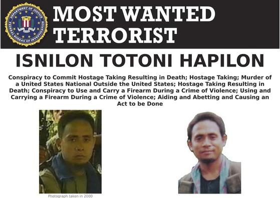 2014년 이슬람국가(IS)에 충성 서약을 한 필리핀 무장단체 아부사야프를 이끌며 각종 납치와 테러를 일삼아 FBI의 수배대상이 된 이스닐론 하필론. [사진 FBI]