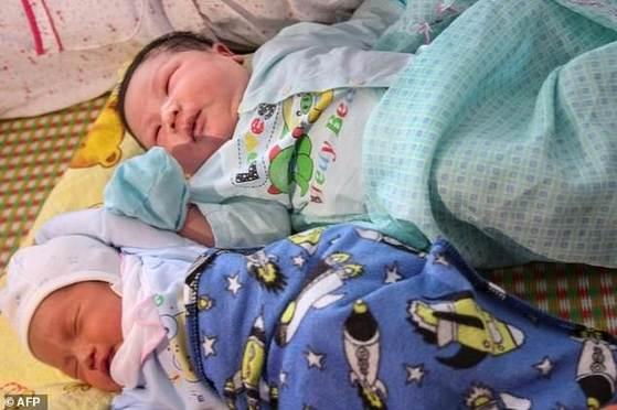 베트남에서 가장 무거운 체중 7.1㎏의 아기가 태어났다. [AFP=연합뉴스]