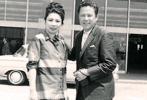 1967년 미 국무부 초청으로 방미한 김보애·김진규.