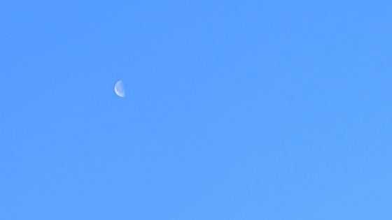 누가 저 반달처럼 생긴 쪽박으로 구름까지 다 박박 긁어 드셨나보다. 하늘이 말끔하다. [사진 조민호]