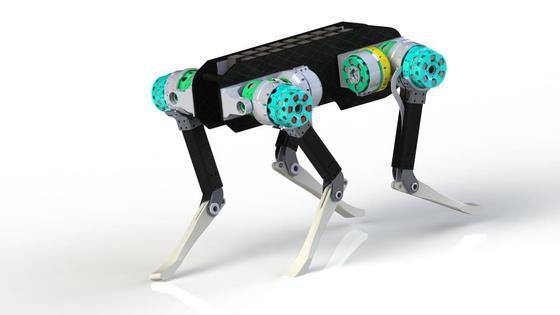 UIUC 점핑로봇 - 네이버가 미국 UIUC(일리노이대 어바나샴페인 캠퍼스)와 공동 개발한 로봇으로 높이 뛰기, 멀리 뛰기가 가능하다. [사진 네이버]