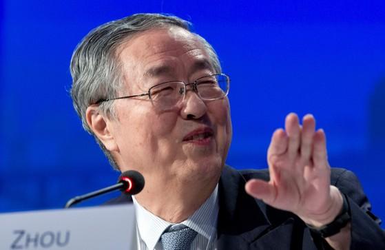저우샤오촨 중국 인민은행 총재가 15일(현지시간) 국제통화기금(IMF)ㆍ세계은행(WB) 연차총회에서 열린 주요 30개국(G30) 그룹 토론에서 발언하고 있다. [워싱턴 AP=연합뉴스]