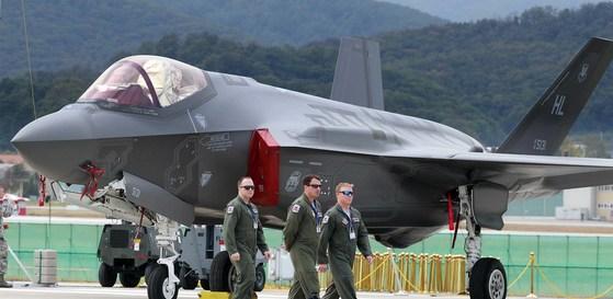 한국에 온 미 스텔스기 F-35A