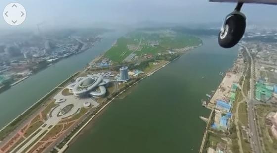하늘에서 본 평양. 사진 유튜브 캡처