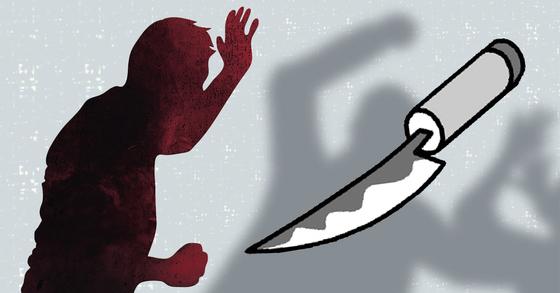 충북 청주 도심 한복판에서 칼부림이 벌어졌다. [중앙포토]