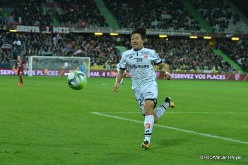 프랑스 디종 미드필더 권창훈이 22일 메스와 경기에서 결승골을 도우며 2-1 승리를 이끌었다. [사진 디종 홈페이지]