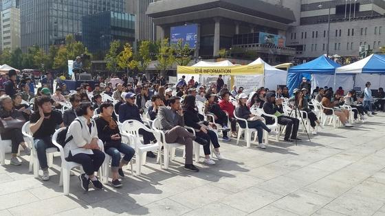 2017 위아자 경매장에 수백명의 참가자가 모였다. 임선영 기자