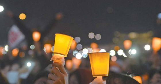 촛불 자료사진. [중앙포토]