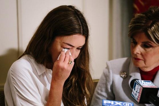 웨인스타인의 부하직원으로 일했던 미미 할레이가 그에게 성추행 당한 사실을 폭로했다. [EPA=연합뉴스]