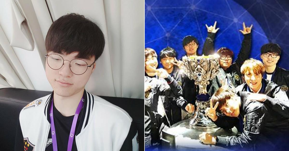이상혁 선수(좌), 2016년 월드 챔피언십에서 우승한 SKT T1(우). [사진 SKT T1 페이스북]
