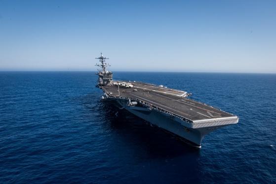 미 해군의 핵추진 항공모함 시어도어 루스벨트함. [사진 미 해군]