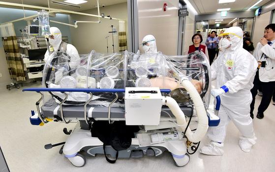 집단 감염병 대비 훈련