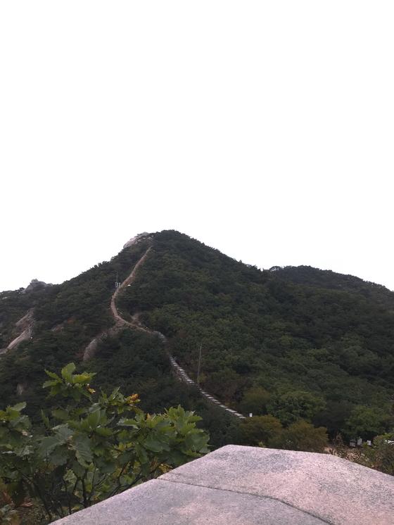 북한산 주능선에서 바라본 산성. 오랜 세월에도 자태가 한없이 늠름하다. [사진 하만윤]