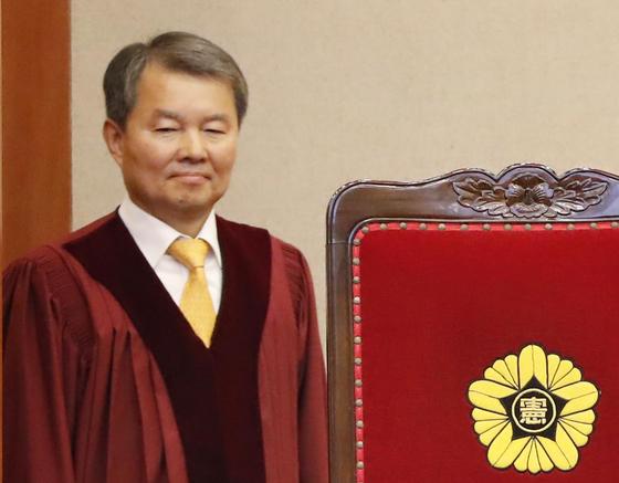 이진성 헌법재판관이 27일 오후 헌법재판소장 후보자로 지명됐다.[연합뉴스]