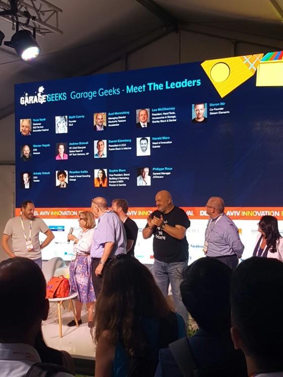 텔아비브에서 지난달 열린 세계 최대 창업축제 'DLD 페스티벌'에서 벤처기업 대표들이 참가자들의 질문을 받고 있다. [현일훈 기자]