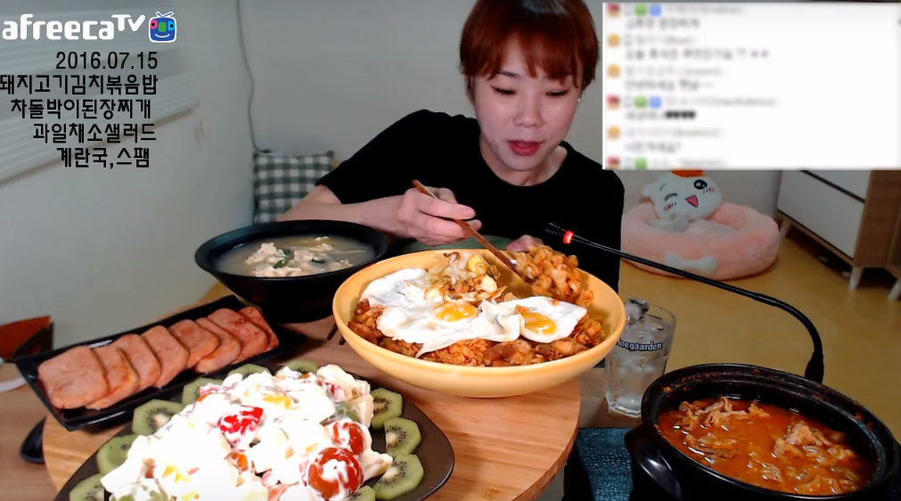 Light-eating Haennim on her YouTube channel (www.youtube.com/channel/UC-Bsa2ivAGWq7bsSPrPGFVA)