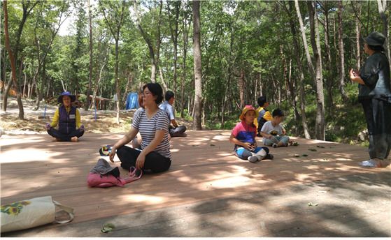 부산 치유의 숲 시범운영 모습.[사진 부산시]