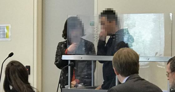 용인 일가족 살해 피의자가 뉴질랜드에서 체포된 모습. [연합뉴스]