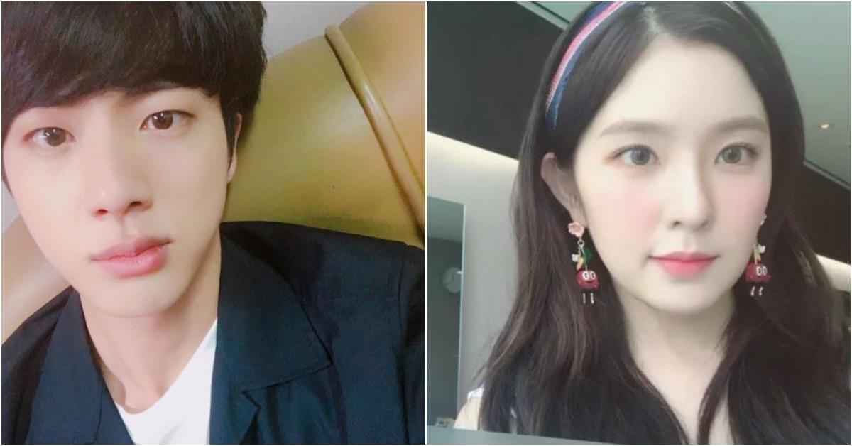 Jin of BTS and Irene of Red Velvet