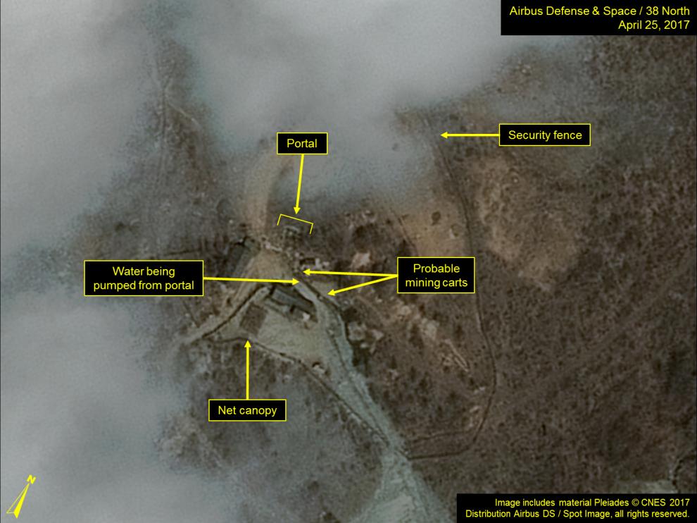 북한 함경북도 길주군 풍계리 핵실험장. [사진 38노스 홈페이지]
