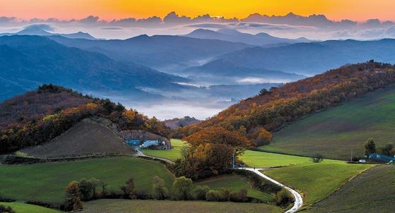 안반데기는 사람이 일군 풍경이다. 해발 1000m 산 위에서 밭을 일군 생의 터전이다. 하여 눈물나도록 아름다운 현장이다. 안반데기의 배추밭은 배추를 수확한 뒤에도 아름답다.