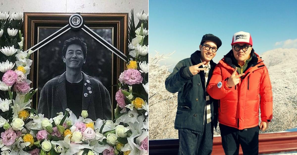 故 김주혁 영정사진(좌), 데프콘이 공개한 사진(우). [사진 중앙포토, 데프콘 인스타그램]