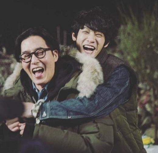 김주혁(왼쪽)과 정준영. [사진 유호진 피디 인스타그램]