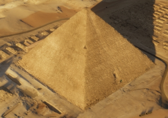 쿠푸의 대피라미드 항공사진. [ScanPyramids mission]
