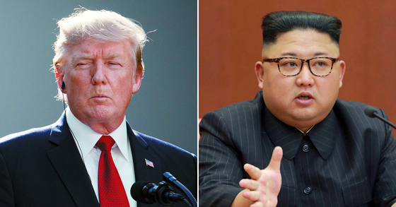 도널드 트럼프 미국 대통령과 김정은 북한 노동당 위원장. [AP=연합뉴스]