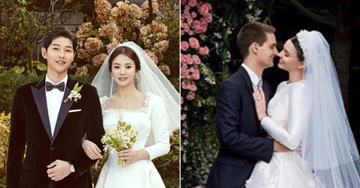 The Breathtaking Photos of Four Celebrity Brides in Dior Wedding Gowns