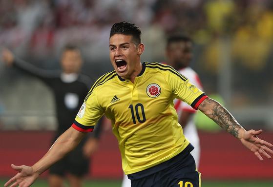 2014년 브라질 월드컵 득점왕 출신 콜롬비아 공격수 하메스. [사진 하메스 인스타그램]