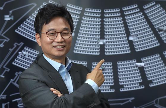 남영삼 N3N 대표가 지난달 서울 여의도 본사에서 '픽셀 온 디맨드' 기술을 설명하고 있다. 최승식 기자