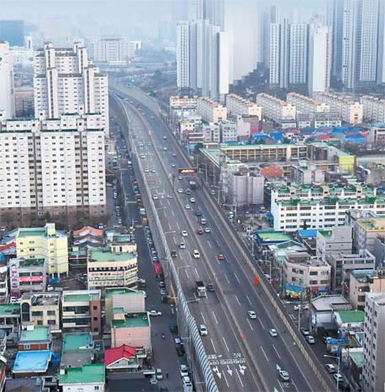 일반도로화 사업 추진중인 경인고속도로. [사진 인천시]
