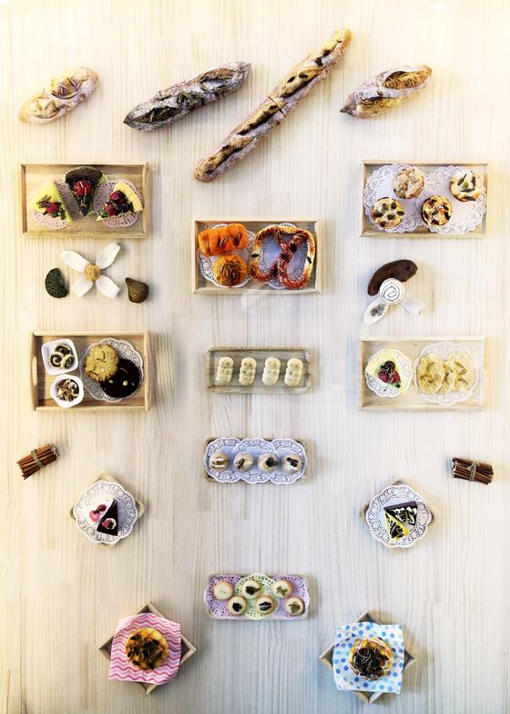 다음달 2일까지 국립과천과학관에서 진행되는 '곤충 고소애는 더 고소해!!'에 전시된 식용곤충으로 만든 음식 모형들. 장진영 기자