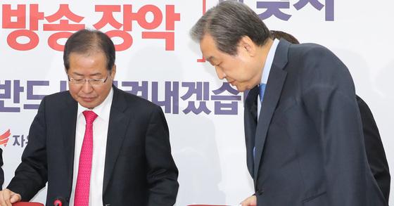 다시 만난 홍준표-김무성. [연합뉴스]
