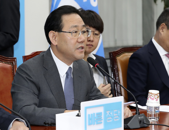 주호영 전 바른정당 대표 권한대행겸 원내대표가 13일 탈당계를 제출했다. 임현동 기자