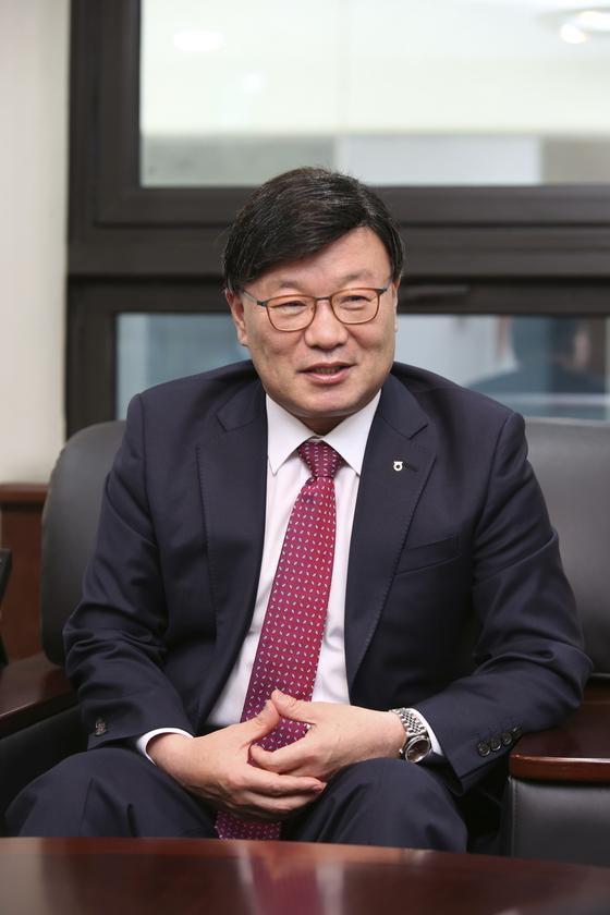 """""""초대형 투자 은행 준비를 다 마쳤다""""는 김원규 NH투자증권 사장. [사진 NH투자증권]"""
