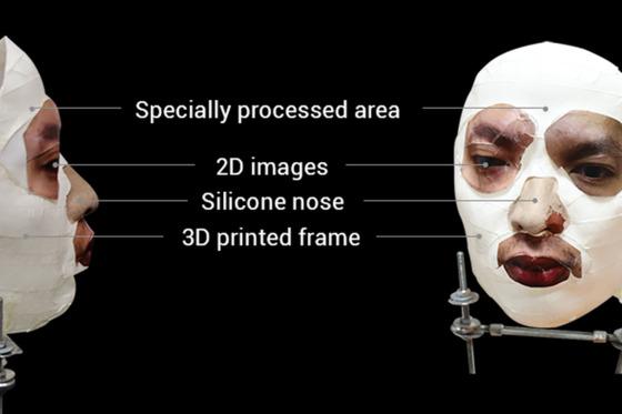 베트남 보안업체 비카브가 제작한 마스크. 비카브 측은 3D프린팅과 2D 사진, 실리콘으로 이 마스크를 제작해 애플 아이폰X의 안면인식 보안장치 '페이스ID'를 돌파했다고 주장했다. [비카브]