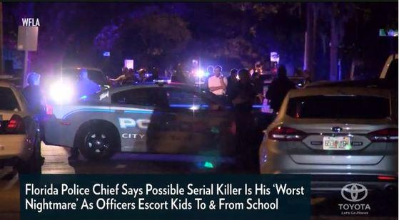 미국 플로리다 주 중심도시 탬파에서 4번째 연쇄살인 사건이 발생하자 경찰이 현지에 출동했다. [사진 피플뉴스 캡처]