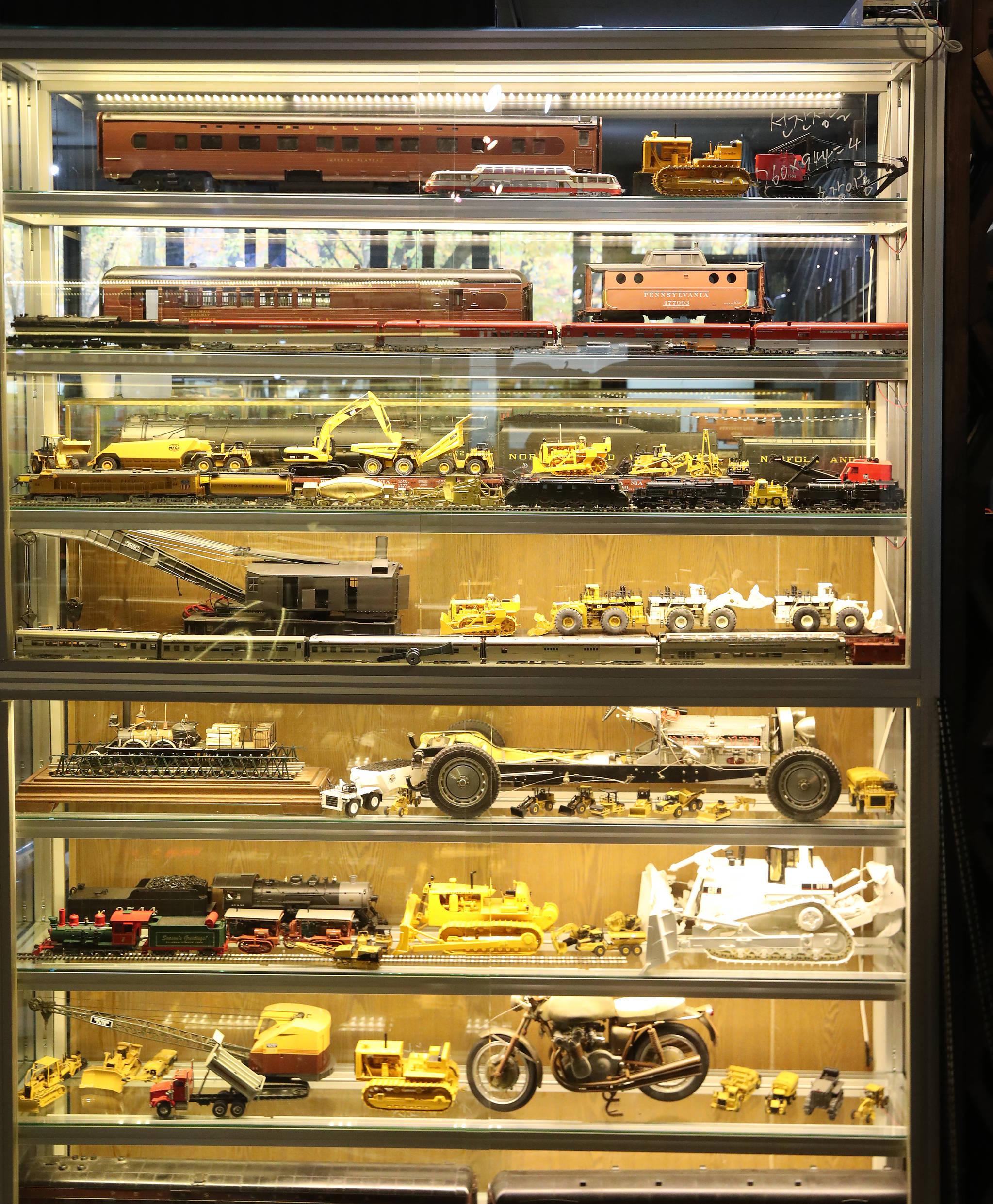 기차 외에도 바이크, 크레인, 불도저 등 박물관에는 다양한 모형이 전시되어 있다. 우상조 기자