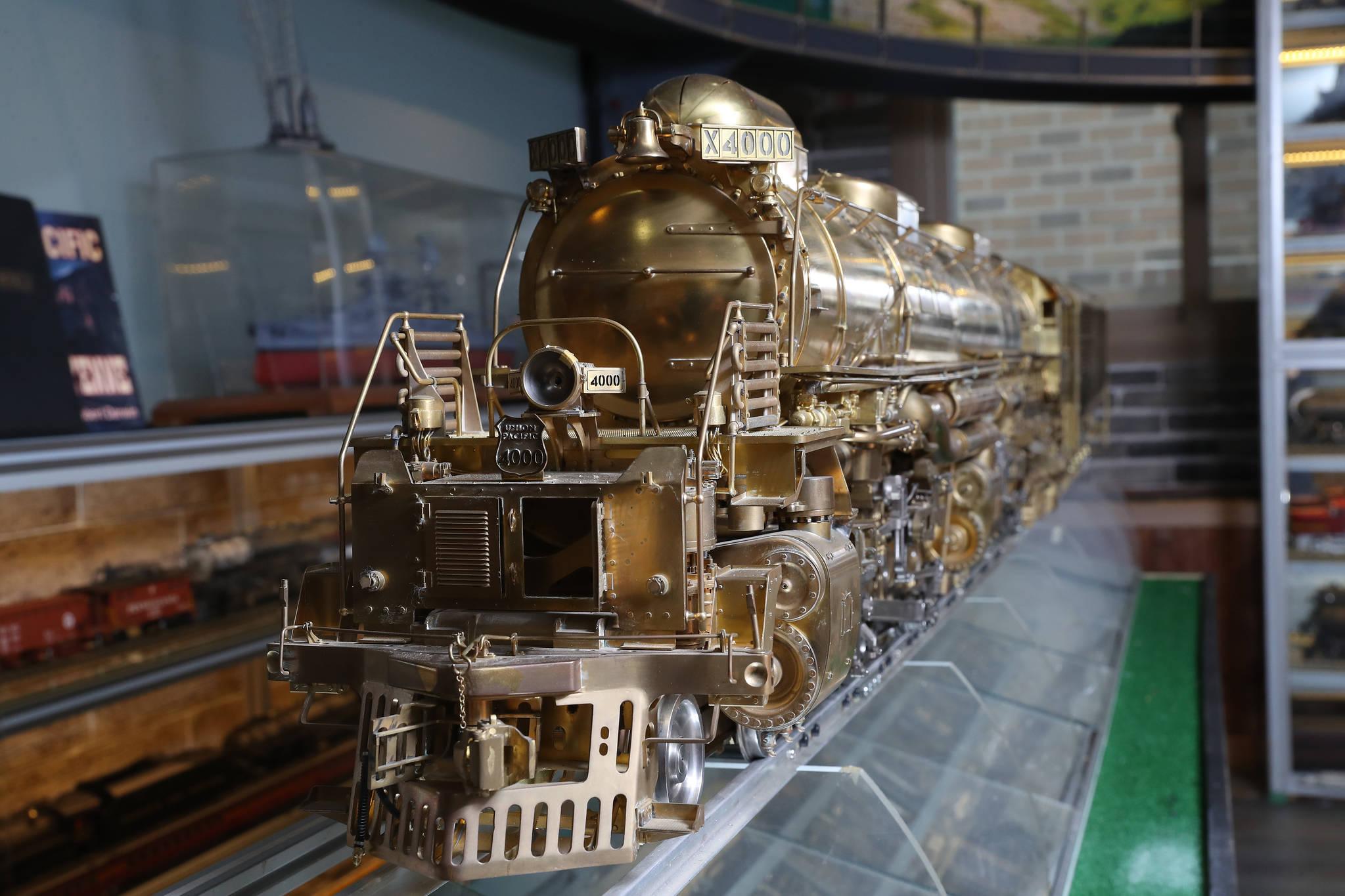 이현만씨가 5년에 걸쳐 제작한 '빅 보이'(Big Boy) 증기 기관차 모형. 1941년~ 1944년 사이에 제조되었고, 유니언 퍼시픽 철도(Union Pacific Railroad)에서 1959년까지 운행한 미국의 석탄 발연 증기 기관차다. 우상조 기자