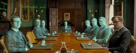할리우드 액션 영화 '킹스맨'에서는 전 세계에서 일하는 요원들이 홀로그램으로 한자리에 모여 작전 회의를 한다. [유튜브 캡처]